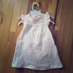 NWT Pink ruffle sleeve dress with bloomers